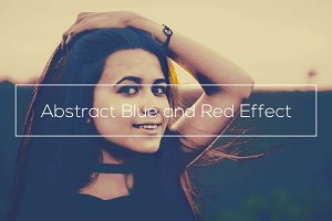 Abstract Blue and Red Effect