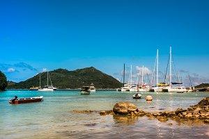 Yachts Marina at Praslin island