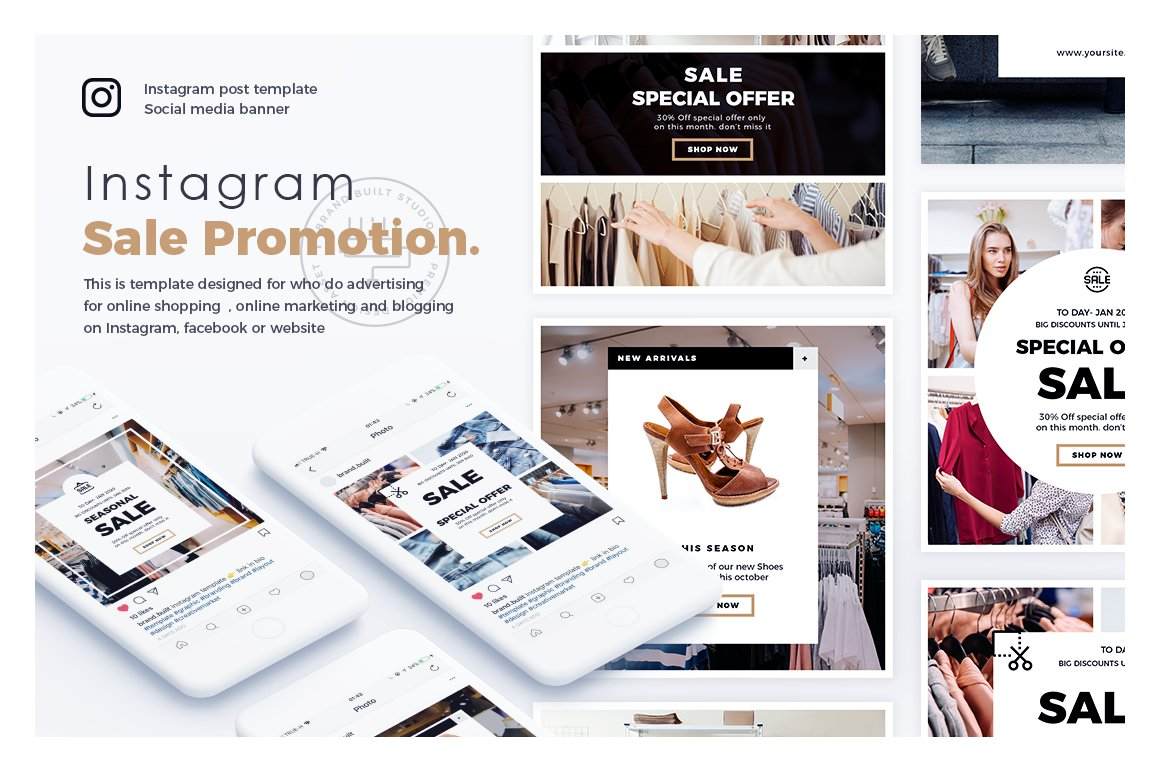 Instagram Layouts Beautiful Templates To Design Your Own Graphics - Instagram ad template