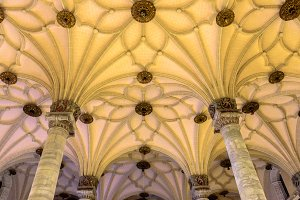 Star shaped ribbed vaults