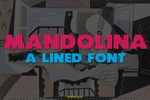 Mandolina Lined Font
