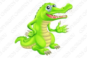 Cartoon Crocodile Illustration