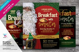 Breakfast With Santa Flyer Templates