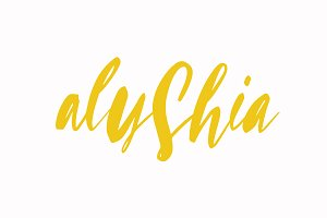 ALYSHIA BRUSH FONT