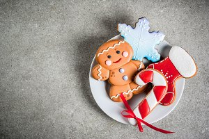 Selection Christmas gingerbreads