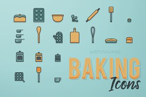Baking Icon Set