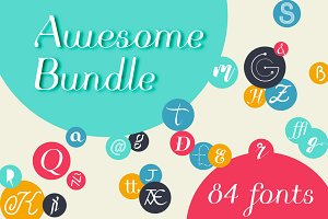 Awesome Bundle 84 fonts
