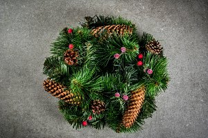 Christmas decorative green wreath