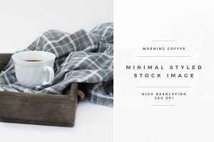Morning Coffee Minimal Styled Stock