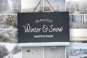 Winter & Snow Stock Photo Pack