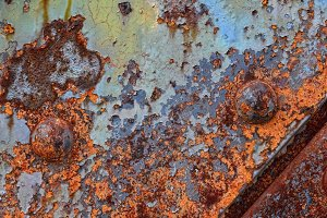 Old rusted iron sheet