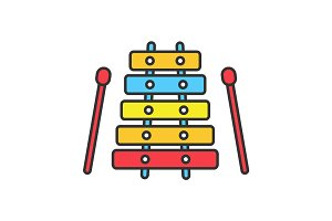 Xylophone color icon