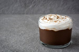 Close up chocolate mousse