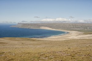 Beach and cliffs in Iceland