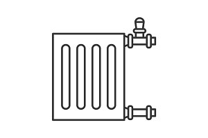 Radiator linear icon