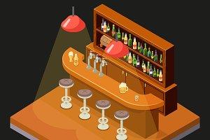 Isometric Pub Bar