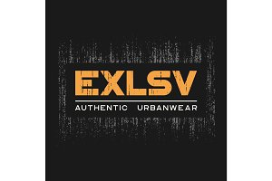 Exlsv t-shirt and apparel design with grunge effect and textured