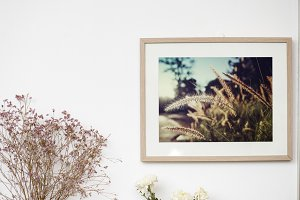 Frame hanging on a wall (PSD)