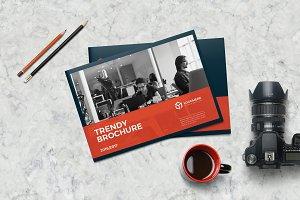 Trendy A5 Landscape Brochure