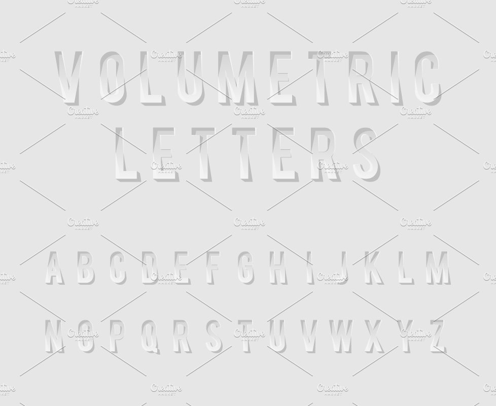 Cutout Alphabet Letters ~ Web Elements ~ Creative Market