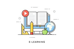 E-learning, online education, distance trainings, tutorials.  Fl