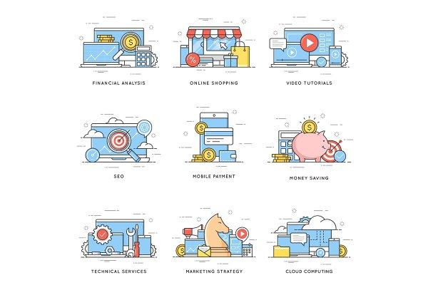 Financial analysis, online shopping…
