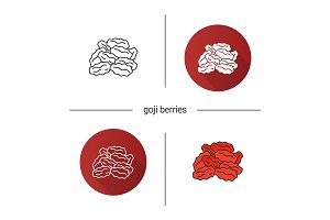 Dried goji berries icon