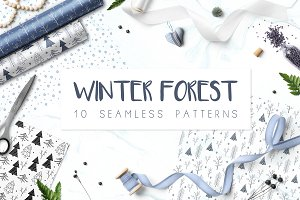 Winter Forest /// seamless patterns