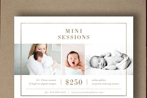 Newborn Mini Session Template Flyer