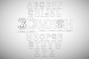 3D Mesh Vector Font