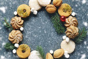 Christmas Cookies wreath.