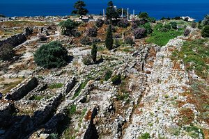 Panorama view of Ancient Byblos ruin, Jubayl Lebanon