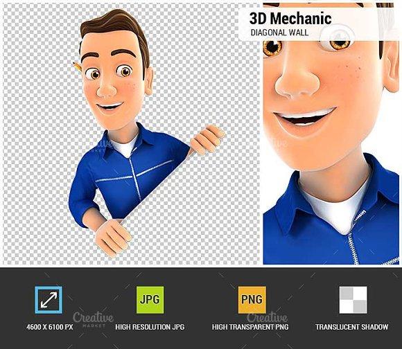 3D Mechanic Behind Diagonal Wall