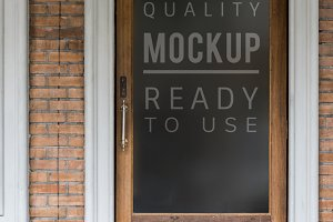 Black board mockup (PSD)