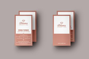 Elegant Pink Business Card