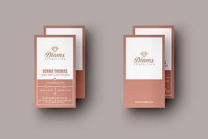 Elegant Pink Business Card