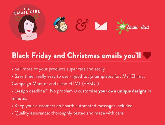Black Friday Christmas Emails Email Templates Creative Market