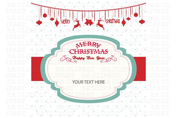 merry christmas invitation card illustrations