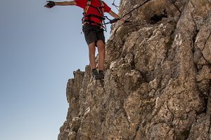 On the edge, via ferrata
