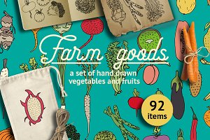 Farm goods - vegetables and fruits