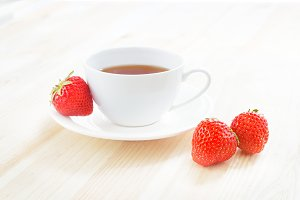 Delicious strawberry tea.