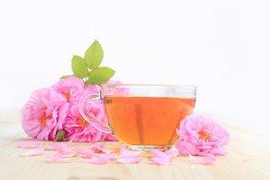 Delicious rose tea.