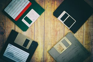 Old diskettes