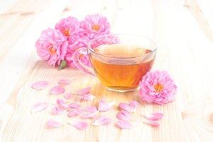 Delicious rose tea