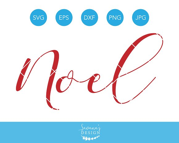 Noel SVG Christmas Cutting File DXF