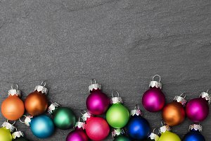 Festive Christmas baubles
