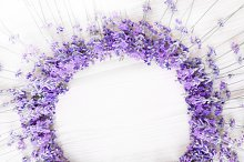 Romantic lavender wreath