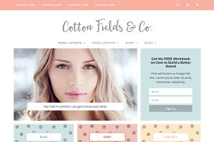 Responsive Wordpress Theme - Cotton
