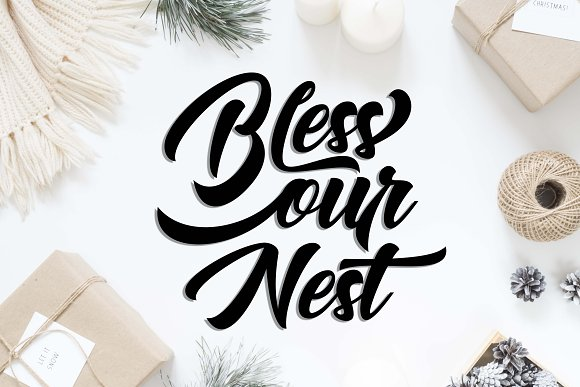 Bless our nest SVG DXF PNG EPS in Illustrations - product preview 1