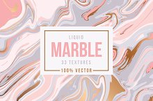 33 Marble Textures - 100% Vector